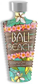Bali Beach™ Coconut Infused Black Bronzer Macadamia Nut Oil + Jackfruit & Guava Extracts Lay back, relax and daydream of beach tides and good vibes! This fruit and nut enhanced, double dark stimulating bronzer will give you straight from the island color after every session. If you have sunshine on the mind then take a Bali break and don't worry, beach happy!