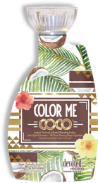 Color Me Coco™ Instant Coconut Infused Bronzing Lotion Lush Light Enhancers This natural bronzing formula will give your skin a sun-drenched glow without the use of any self-tanning agents. Light activated Photosomes will work to improve skins elasticity and tone while boosting suppleness and promoting a more youthful appearance.