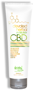 Devoted Herbal CBD Moisturizer™ Micro Infused with Essential Oils and Extracts for maximum hydration and absorption Formulated for daily use, Added Citrus and Mint extract make this unique lotion your best bud for anytime your skin needs maximum hydration. Natural oils and extracts, combined with calminglavender, hemp seed and coconut essential oils allow your skin to drift off into a realm of relaxation.