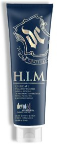H.I.M. Chrome Streak-Free / Stain-Free Natural Bronzing, Oil Absorbing Tanning Elixir Tattoo Protecting & Body Deodorizing This dark tanning, oil absorbing, formula is suitable for all bro types. The natural bronzing formula will develop just from the beach, solid results without the potential of annoying streaking or staining. Brofessionally enhanced with Tattoo Protection and body deodorizing so you can party all day
