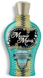 Mermaid Majesty Aqua Breeze Cooling Triple Bronzing Lotion Splashed with Hawaiian Seaweed & Starfruit Extracts For perfectly tanned, just from the beach color, this Mer-mazing formula drowns your skin in vitamin rich Hawaiian Seaweed, Starfruit and Sea Buckthorn Berry for a replenished and hydrated complexion. The dark bronzers and cooling sensation keep you refreshed and bikini bronzed.