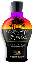 Somewhere on a Beach Indoor/Outdoor Instant Dark Tanning Cocktail Infused with Coconut Oils & Sea Buckthorn. This intoxicating tropical formula will keep your skin hydrated, toned and tanned! If you're looking for the perfect tanning cocktail, then order up a bottle of liquid sunshine. With Somewhere On A Beach, it's TAN o'clock ALWAYS!
